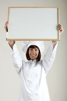 Free Chef Holding Blackboard Royalty Free Stock Photo - 17311015