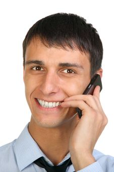 Free Man With Phone Royalty Free Stock Photography - 17311087