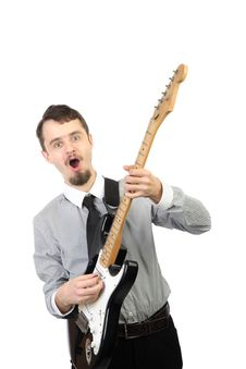Free Playing Electric Guitar Stock Photo - 17311110