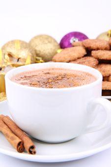 Hot Chocolate And Cookies Stock Photos