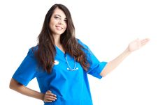 Free Smiling Woman Doctor Stock Photo - 17311710