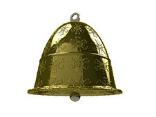 Free Golden Christmas Bell №1 Royalty Free Stock Photography - 17311967