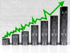 Free The Graph Of Growth Of The Green Arrow Stock Photo - 17312100