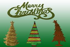 Assorted Christmas Trees Royalty Free Stock Image