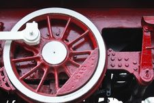 Free Detail Of Vintage Steam Engine Locomotive  Wheel Royalty Free Stock Image - 17312466
