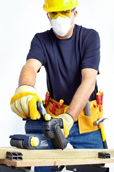 Free Mature Contractor Stock Image - 17313071