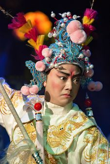 Free Chinese Opera Actor With Traditional Costume Royalty Free Stock Photo - 17313335