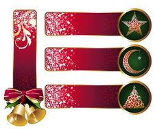Set Of Christmas Banners Stock Photography