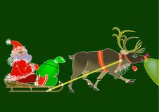 Free Santa Claus End Rudolph Stock Images - 17314094