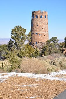 Free Old Watch Tower At Grand Canyon Stock Photography - 17314542
