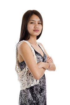 Free Asian Woman With Crossed Arms Stock Photo - 17315150