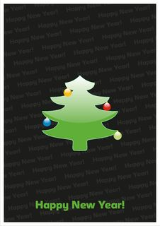Free Happy New Year Card Royalty Free Stock Photography - 17315267