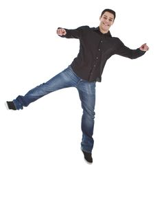 Free Young Fresh Happy Man Jumping Stock Images - 17315784
