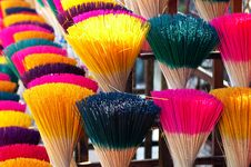 Free Colorful Joss Sticks In Vietnam Royalty Free Stock Photo - 17316305