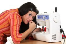 Free Seamstress Work On The Sewing-machine Stock Photos - 17316703