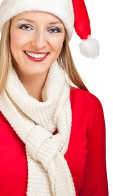 Free Woman In Santa Hat With Presents Stock Image - 17317421
