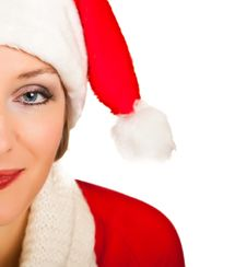 Free Woman In Santa Hat With Presents Stock Photo - 17317430