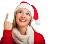 Free Woman In Santa Hat With Presents Stock Photos - 17317473