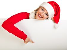 Free Woman In Santa Hat With Presents Stock Photos - 17317503