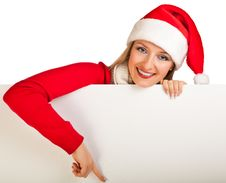 Free Woman In Santa Hat With Presents Royalty Free Stock Images - 17317509