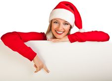 Free Woman In Santa Hat With Presents Royalty Free Stock Image - 17317526