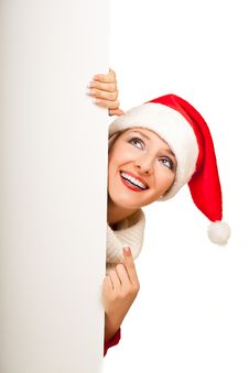 Free Woman In Santa Hat With Presents Royalty Free Stock Photography - 17317537