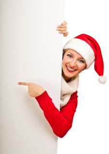 Free Woman In Santa Hat With Presents Royalty Free Stock Photo - 17317545