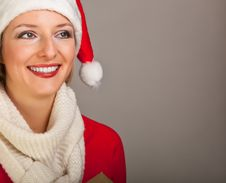 Free Woman In Santa Hat With Presents Royalty Free Stock Image - 17317576