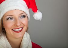 Free Woman In Santa Hat With Presents Stock Photography - 17317582