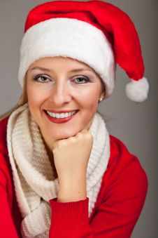 Free Woman In Santa Hat With Presents Royalty Free Stock Image - 17317616