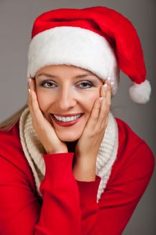 Free Woman In Santa Hat With Presents Royalty Free Stock Photography - 17317627
