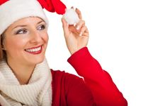 Free Woman In Santa Hat With Presents Royalty Free Stock Photography - 17317707