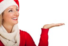 Free Woman In Santa Hat With Presents Stock Image - 17317731