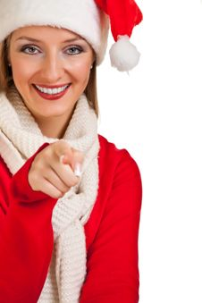 Free Woman In Santa Hat With Presents Royalty Free Stock Photos - 17317748