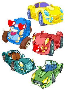 Free Cartoon Cars Royalty Free Stock Image - 17317896