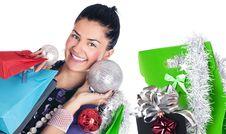 Free Christmas Girl Royalty Free Stock Photo - 17318035