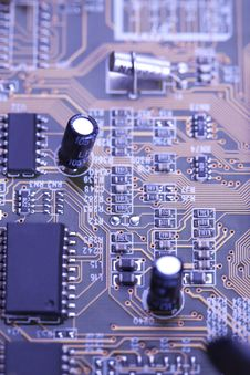 The Processor On The Motherboard Royalty Free Stock Images