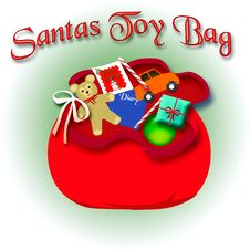 Free Santa S Toy Bag Stock Image - 17318371