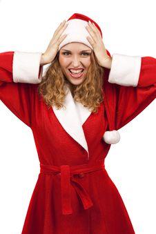 Free Surprised Santa Claus Stock Photography - 17318642