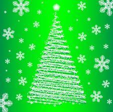 Vector Christmas Fur-tree. Stock Image
