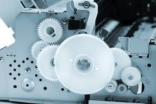 Free Part Of The Mechanism With Gears Blue Toning Royalty Free Stock Photography - 17319207