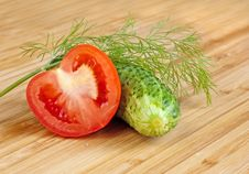 Free Cucumbers, And Tomatos Royalty Free Stock Image - 17319446