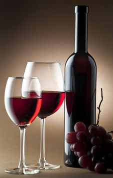 Wine Composition Stock Photos