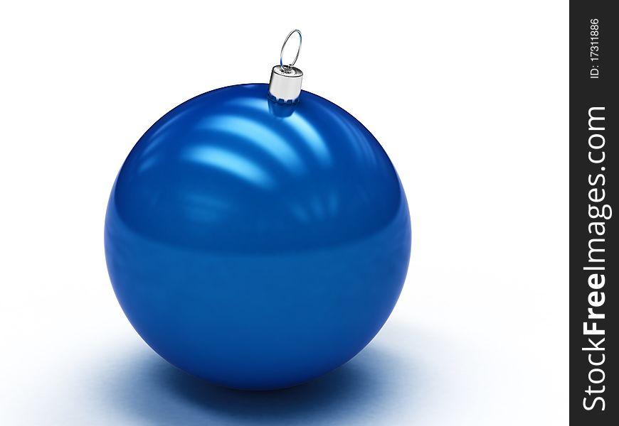 Blue Christmas ball 1