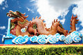 Free Golden Dragon And Blue Sky Stock Photography - 17320232