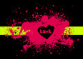 Free Illustration Of Pink Stain With Heart Royalty Free Stock Images - 17324969