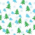 Free Seamless Vector Pattern, Christmas Trees Stock Photos - 17325903
