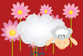 Free Sheep And Flowers Royalty Free Stock Photo - 17325935
