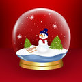 Free Snow Globe. Vector Royalty Free Stock Photography - 17328737