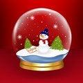 Free Snow Globe. Vector Royalty Free Stock Photography - 17328737